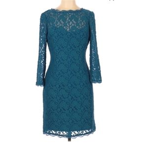 Adriana Papell Floral Lace Dress